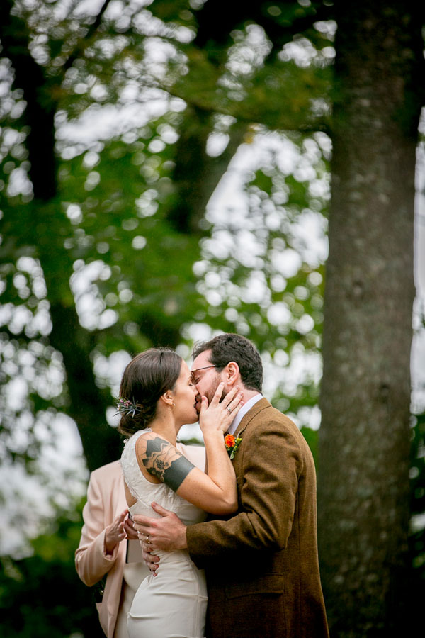 Autumn Forest Delight Sets The Tone For A New England Lake Side Wedding | Photograph by Ampersand Wedding Photography