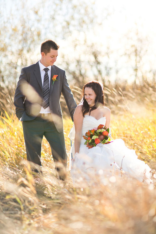 Stunning Alberta Farm Land Wedding Dripping In Rich Fall Colors | Photograph by NC Photography