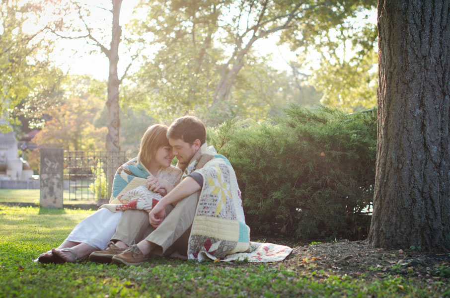Vintage Themed Engagement Photos Inspired By A Mother