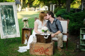 Vintage Themed Engagement Photos Inspired By A Mother's Wedding Dress