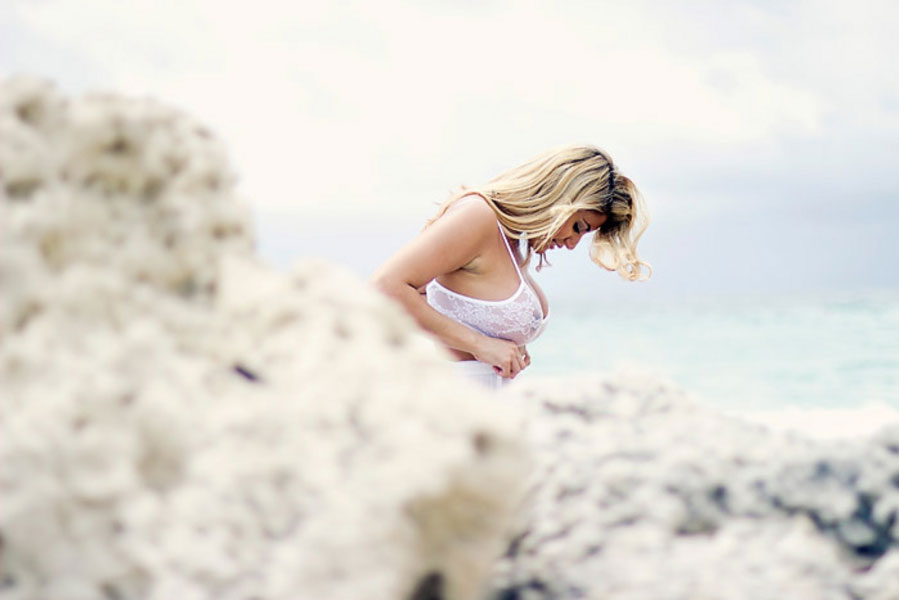Retro Hollywood Shoreline Inspired Boudoir Session Among The Breaking Surf   Photograph by Dainty Blue Photography