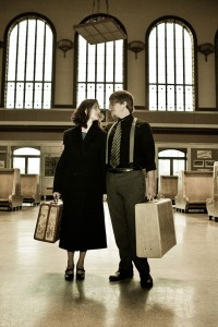 1920s Flapper Inspired Engagement Session With Picnics & Train Stations | Photograph by Sarah Roshan