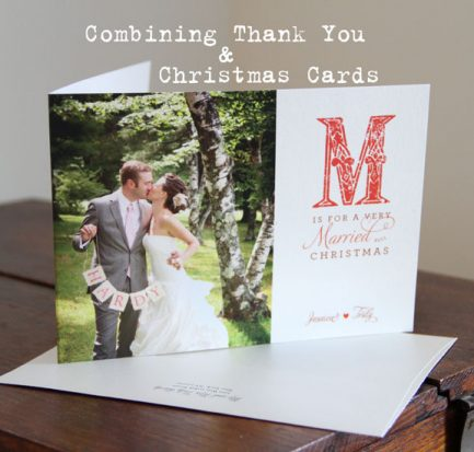 Combining Wedding Thank You Cards and Christmas Cards