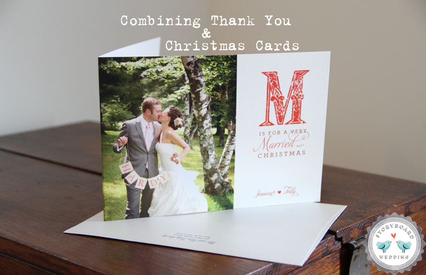 How We Combined Our Christmas Cards With Our Wedding Thank You Cards | Photograph by Storyboard Wedding  http://www.storyboardwedding.com/combining-thank-yous-holiday-cards-part-2/