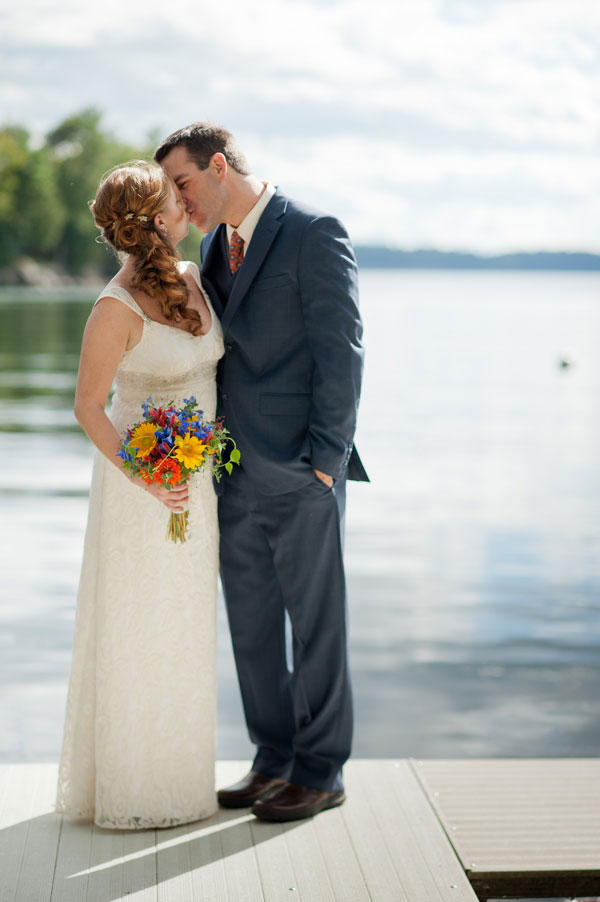 Private Lake Champlain Cottage Wedding With Country Flair & Bright Hues | Photograph by Sarah Cocina Photography