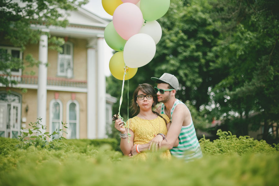 Just A Day In The Life Of Love, Gameboys, Hipster Flair & Goofiness | Hipster Engagement Session | Photograph by Estanislao Photography