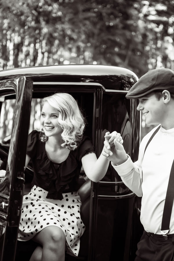 Candy Sweet Vintage Notebookesque Engagement Session | Photograph by Collette Mruk Photography