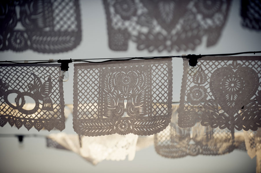 Hacienda Dona Andrea Plays Host To This Upscale Papel Picado New Mexico Wedding | Photograph by Ashley Davis Photography