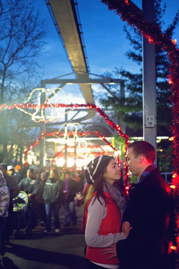Theme Park Holiday Engagement Session At The Famed Hershey Park In Pennsylvania | Photograph by Zen Photography