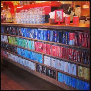 Landromat Cafe Lined With Books Reykjavik