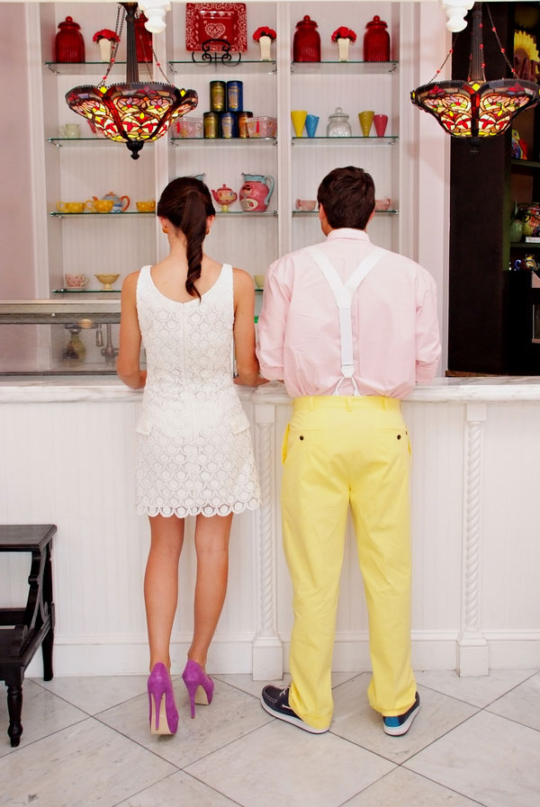 Scoop Shop Engagement Session | Photograph by Tonya Malay Photography