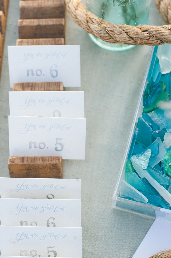 Salt Water Taffy Infused Sophisticated Beach Wedding | Photograph by Christina Lilly Photography