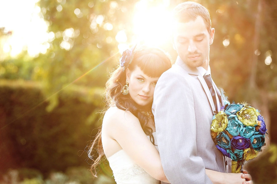 Peacock Hued Wedding In A Bold Jewel Tone Color Palette | Photograph by Meghan Wiesman Photography | Storyboard Wedding