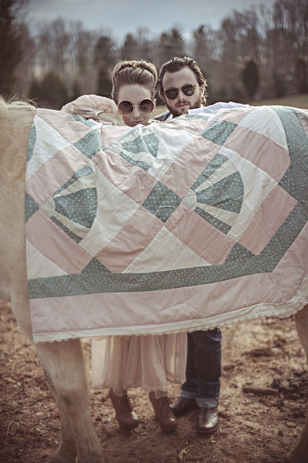 1960s Retro Inspired Love Story In This Twiggyesque Engagement Session | Photograph by BPosh Photography