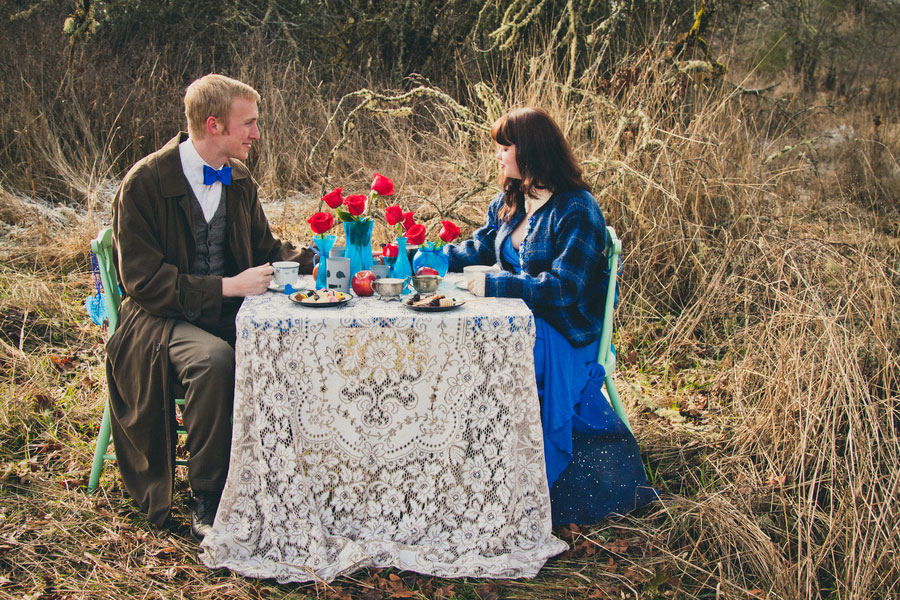 Doctor Who Tea Party Engagement Session | Photograph by MegganJoy Photo