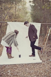 Lindsey_Zachary_Bohemian_Woodsy_Artist_Engagement_Session_BPosh_Photography_4-v