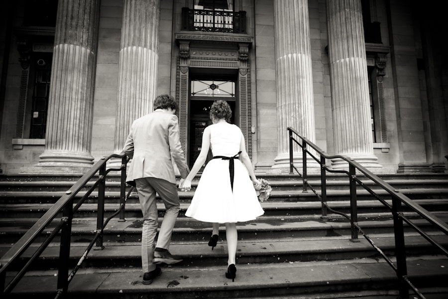Intimate English Town Hall Wedding | Photograph by Esvy Photography  http://storyboardwedding.com/an-intimate-english-town-hall-wedding-crown-celebration-with-musical-notes-as-punctuation/