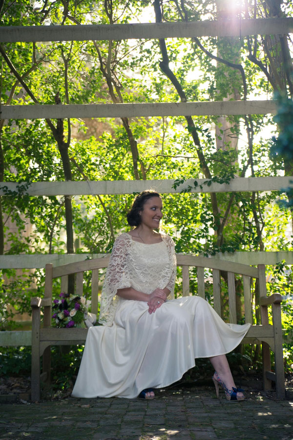 Outdoor Rustic Garden Elopement With A Touch Of Vintage Feel | Photograph by Truly TY Photography