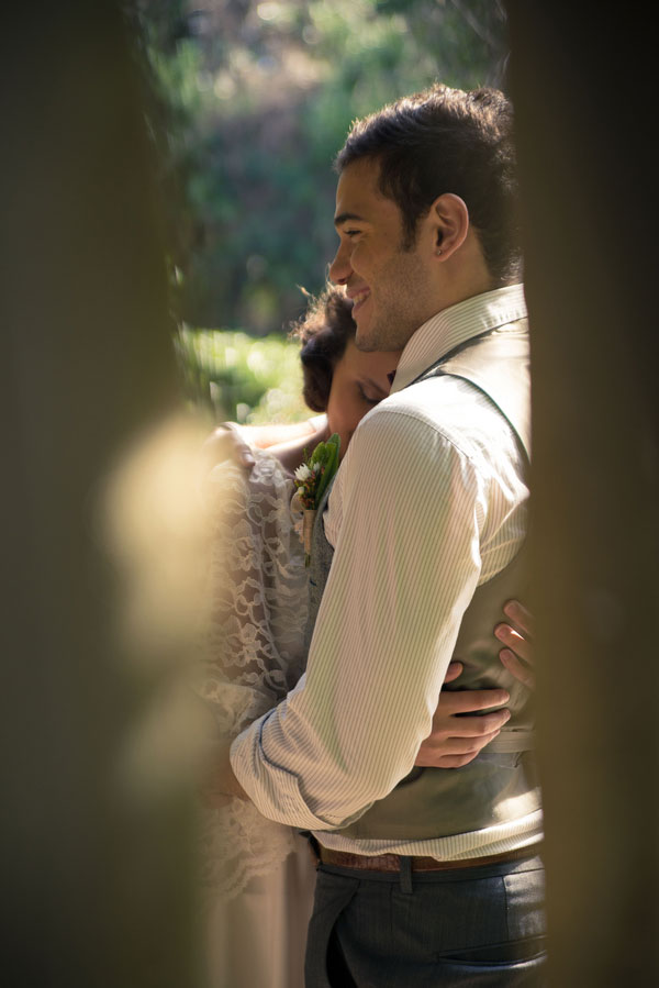 Outdoor Rustic Garden Elopement With A Touch Of Vintage Feel   Photograph by Truly TY Photography