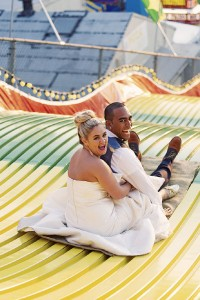 Carnival Infused Trash The Dress Session Complete With Corn dogs &...