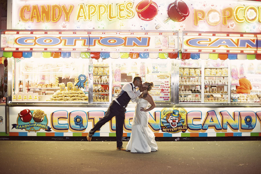 Carnival Infused Trash The Dress Session Complete With Corn dogs & Giant Slides | Photograph by Snap.Grin Photography