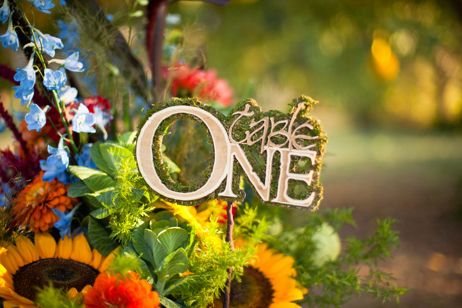 Hobbit Inspired Wedding Featuring Bold Autumn Inspired Colors & Rustic Touches | Photograph by Sarah Crowder Photography