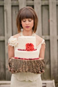 Rustic Winter Wedding With Marie Antoinette Inspired Wedding Dress Dra...