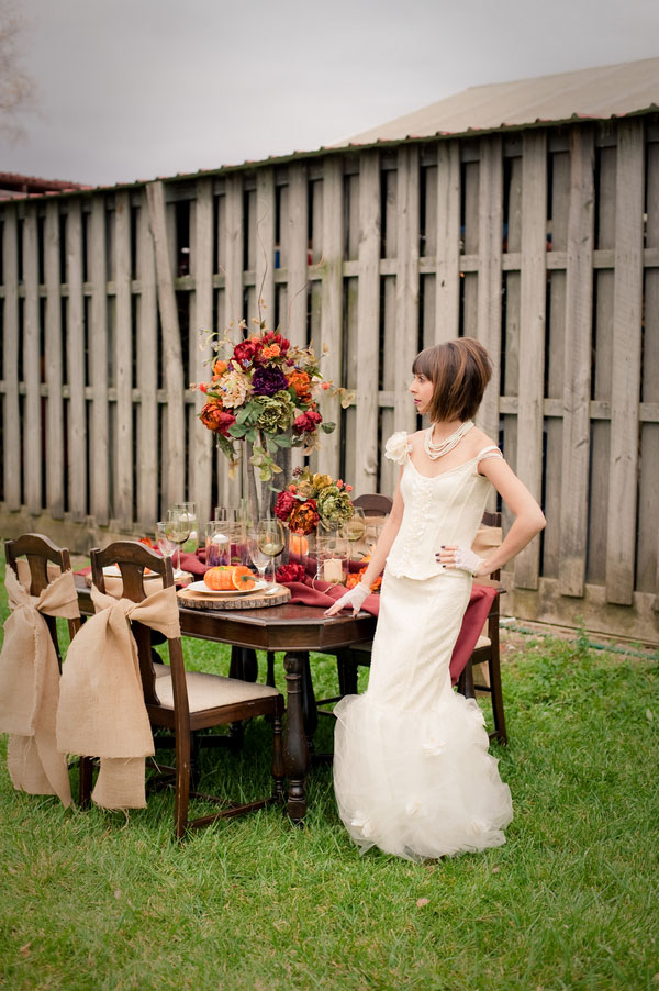 Rustic Winter Marie Antoinette Inspired Wedding In Rich Warm Colors | Photograph by Melissa Jordan Photography