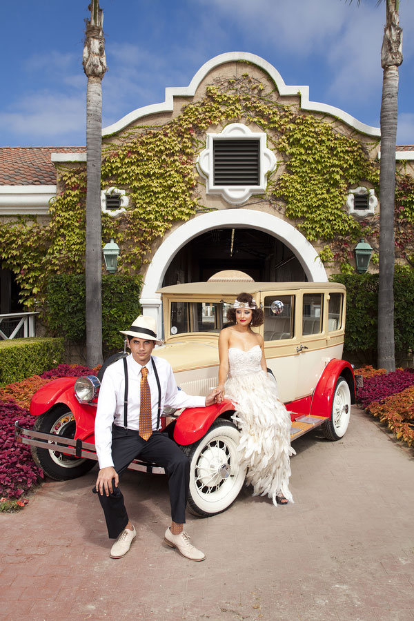 The Great Gatsby Goes To The Races In This Del Mar Racetrack Styled Wedding Winner | Photograph by Siegel Thurston Photography