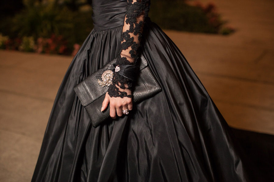 Queen Of The Night- Elegant Black Wedding Dresses   Black Wedding Gown Bridal Style  Photograph by Casey Fatchett Photography