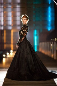 Queen Of The Night- Elegant Black Wedding Dresses With Sophisticated S...