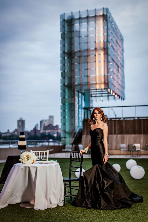 Queen Of The Night- Elegant Black Wedding Dresses | Black Wedding Gown Bridal Style| Photograph by Casey Fatchett Photography