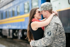 Rustic Patriotic Love Dressed In Military Fatigues And Smiles For Days