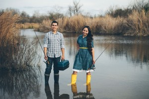 My Yellow Rain Boots- An Engagement Love Story While Fishing In The San Diego River