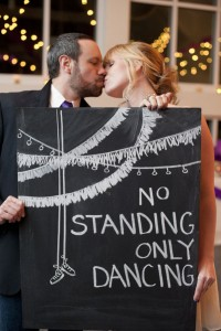 No Standing, Only Dancing!  Purple & Yellow Wedding With Fringe Ba...