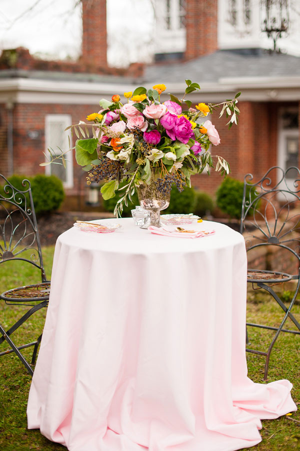 Pretty In Pink Cool Spring Weather Wedding Featuring Bows & Arrows And Streamer Balloons   Photograph by Gina Petersen Photography