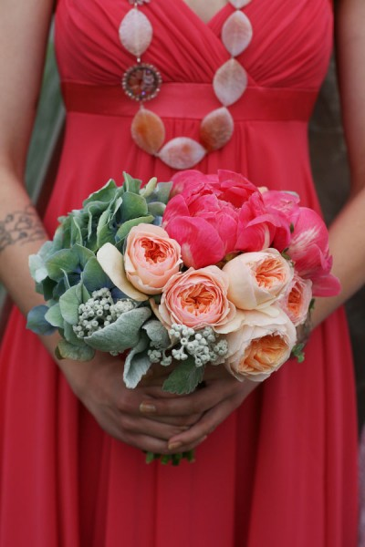 Unique Uptown Eco-Friendly Wedding With Bright Bold Pinks & Bikes | Photograph by Studio Laguna Photography