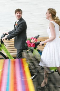 Unique Uptown Eco-Friendly Wedding With Bright Bold Pinks & Bikes