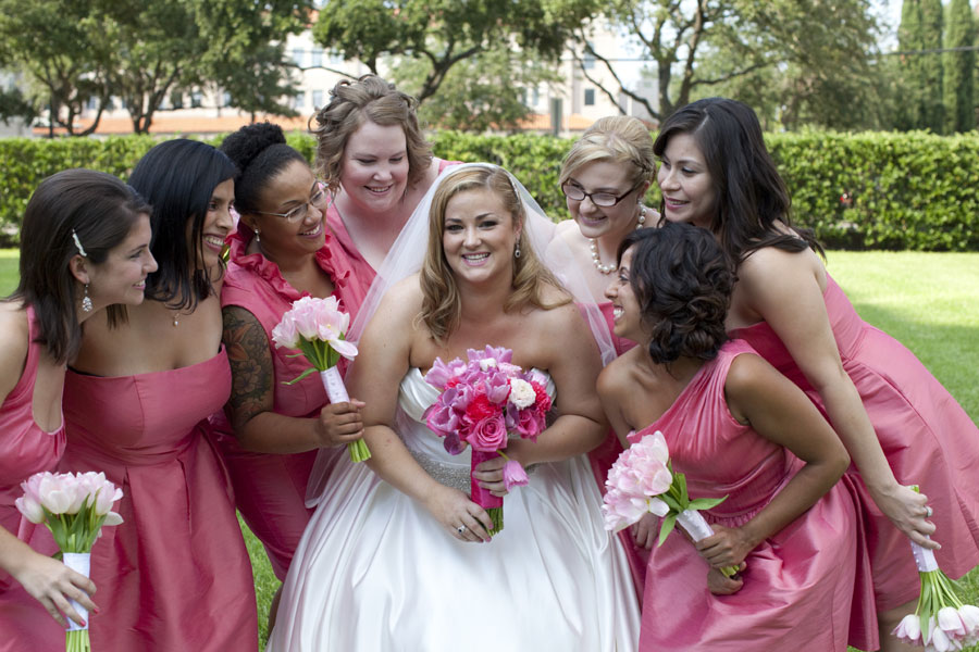 A Love Affair With Pink In This Gardens of Bammel Lane Wedding | Photograph by ALICIA PYNE PHOTOGRAPHY  http://storyboardwedding.com/a-love-affair-with-pink-in-this-gardens-of-bammel-lane-wedding/