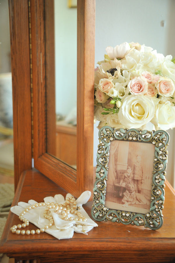 Vintage French & Old English Lace & Pearl Wedding In A Romantic Palette of Pink, Ivory & Gray | Photograph by Misty Miotto Photography  https://www.storyboardwedding.com/vintage-french-old-english-influence-this-lace-pearl-cypress-grove-estate-house-styled-wedding/