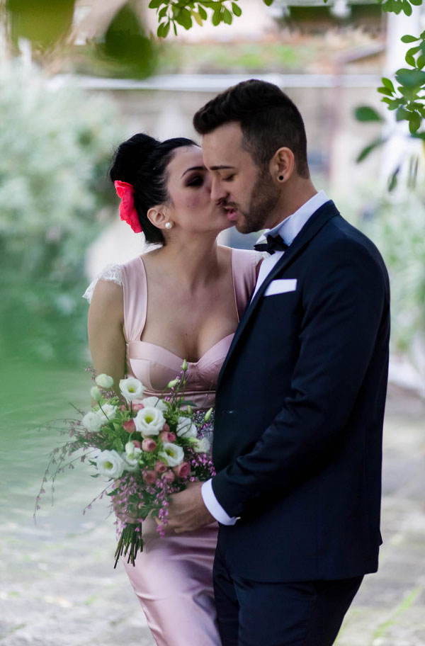 Romantic & Elegant Elopement Among The Venice Canals For This Worldly Greek Couple | Photograph by Luca Faz Photographer in Venice