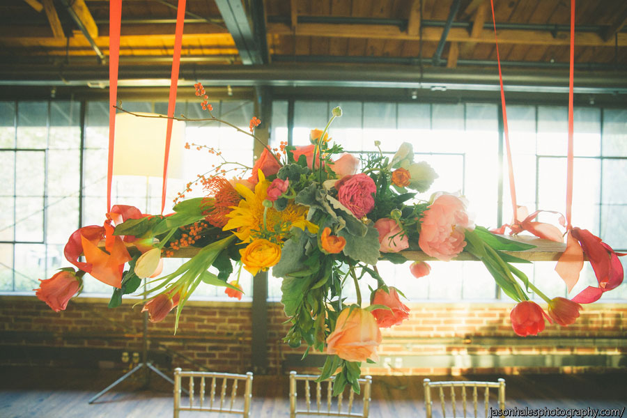 Georgia Peach Inspired Hues In This Rustic Industrial Wedding With Farmhouse Chic Sophistication | Photograph by Jason Hale Photography