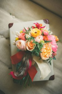 Soft Sweeping Romantic Blooms In Georgia Peach Inspired Wedding Bouquet | Photograph by Jason Hales Photography
