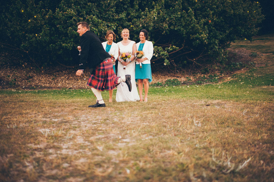 Chic Seaside Scottish Wedding Along Australia