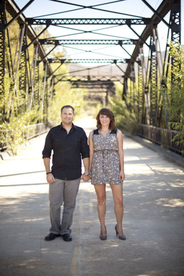 Vintage Polaroid Engagement Session On Historic Sweetwater Bridge | Photograph by Siegel Thurston Photography