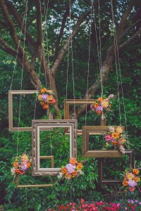 Why It Works Wednesday: Bohemian Inspired Suspended Frames In A Ceremo...