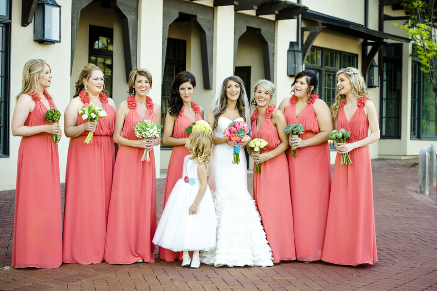 Soft Greens & Gentle Coral Set The Tone For This Outdoor Elegant Wedding In Lost Rabbit Mississippi | Photograph by Mark Eric Weddings