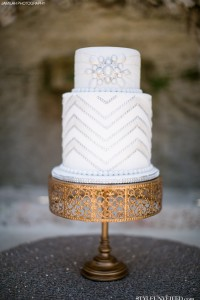 Great Gatsby Wedding Cake via Style Unveiled Jamilah Photography