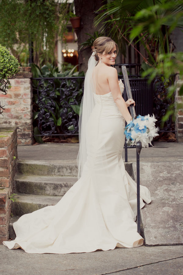 New orleans french quarter wedding at place d 39 armes with for New orleans wedding dresses