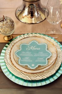 Why It Works Wednesday: Mint And Gold Place Setting With Texture & Sha...